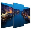 Bilderdepot24 Venice IV 3-Piece Framed Photographic Print Set on Canvas