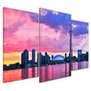 Bilderdepot24 Toronto Skyline 3-Piece Photographic Print Set on Canvas