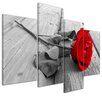 Bilderdepot24 Rose Bridge 4-Piece Photographic Print Set on Canvas