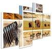 Bilderdepot24 Safari Africa 4-Piece Photographic Print Set on Canvas