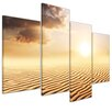Bilderdepot24 Sahara Desert in Africa 4-Piece Photographic Print Set on Canvas