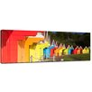 Bilderdepot24 Colourful Beach Huts in Great Britain Framed Photographic Print