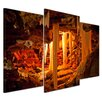 Bilderdepot24 Grotto in Kungur Ice Cave 3-Piece Photographic Print on Canvas Set