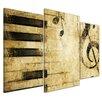 Bilderdepot24 Grunge Music 3-Piece Graphic Art on Canvas Set