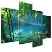 Bilderdepot24 Kursunlu Waterfall 4-Piece Photographic Print on Canvas Set