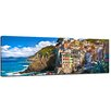 Bilderdepot24 Riomaggiore Fishing Village Cinque Terre I Framed Photographic Print on Canvas