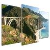 Bilderdepot24 3-tlg. Leinwandbilder-Set Big Sur Küstenlinie in Kalifornien, Fotodruck
