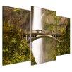 Bilderdepot24 Multnoomah Falls in Oregon 3-Piece Photographic Print on Canvas Set
