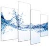 Bilderdepot24 Water Splashes 5-Piece Photographic Print on Canvas Set