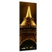 Bilderdepot24 Eiffel Tower by Night Framed Photographic Print on Canvas