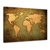 Bilderdepot24 Vintage World Map Framed Painting Print