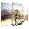 Bilderdepot24 Leopard 3 Piece Photographic Print on Canvas Set