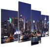 Bilderdepot24 New York Skyline 4 Piece Photographic Print on Canvas Set