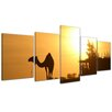 Bilderdepot24 Camel in Egypt 5 Piece Photographic Print on Canvas Set