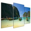 Bilderdepot24 Tropical Beach 3 Piece Photographic Print on Canvas Set