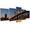 Bilderdepot24 New York Bridge 5 Piece Photographic Print on Canvas Set