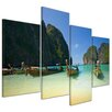 Bilderdepot24 Tropical Beach 4 Piece Photographic Print on Canvas Set