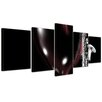 Bilderdepot24 Saxophone with Heart 5 Piece Graphic Art on Canvas Set
