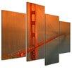 Bilderdepot24 Golden Gate Bridge 4 Piece Photographic Print on Canvas
