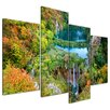 Bilderdepot24 Plitvicer Lakes II 4-Piece Photographic Print on Canvas Set
