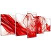 Bilderdepot24 Abstract Smoke 5-Piece Graphic Art on Canvas Set