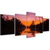 Bilderdepot24 Tropical Sunset 5-Piece Photographic Print on Canvas Set