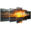 Bilderdepot24 Makena Beach 5-Piece Photographic Print on Canvas Set
