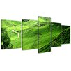 Bilderdepot24 Tea Plantation in Malaysia 5-Piece Photographic Print on Canvas Set