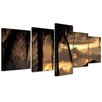 Bilderdepot24 Sunset II 5-Piece Photographic Print on Canvas Set