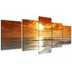 Bilderdepot24 Sunset in Corsica 5-Piece Photographic Print on Canvas Set