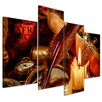 Bilderdepot24 Vintage Still Life 4-Piece Photographic Print on Canvas Set