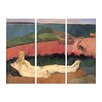 Bilderdepot24 'Loss of Virginity' by Paul Gauguin 3 Piece Painting Print Set on Canvas
