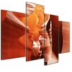 Bilderdepot24 Antelope Canyon 4-Piece Photographic Print on Canvas Set