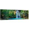 Bilderdepot24 Forest Waterfall II 3-Piece Photographic Print on Canvas Set