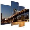 Bilderdepot24 New York Bridge 4-Piece Photographic Print on Canvas Set