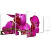 Bilderdepot24 Orchid II 5-Piece Photographic Print on Canvas Set