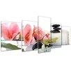Bilderdepot24 Orchids and Zen Stones 5-Piece Photographic Print on Canvas Set