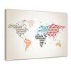 Bilderdepot24 World Map Human Pictogram II Framed Graphic Art on Canvas