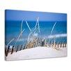 Bilderdepot24 Gerahmtes Leinwandbild Sanddüne Meer, Fotodruck