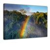 Bilderdepot24 Rainbow Over Victoria Waterfall Framed Photographic Print on Canvas
