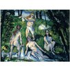 Bilderdepot24 'The Bathers' by Paul Cézanne Framed Oil Painting Print on Canvas