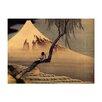 Bilderdepot24 'Boy Viewing Mount Fuji' by Katsushika Hokusai Framed Oil Painting Print on Canvas