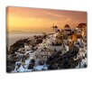 Bilderdepot24 Santorini at Sunset Framed Photographic Print