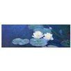 Bilderdepot24 'Water Lilies' by Claude Monet Framed Oil Painting Print on Canvas