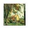Bilderdepot24 'Jas de Bouffan' by Paul Cézanne Framed Oil Painting Print on Canvas