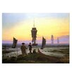 Bilderdepot24 'The Stages of Life' by Caspar David Friedrich Framed Oil Painting Print on Canvas