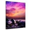Bilderdepot24 Sunset Over Rocky Coast Framed Photographic Print