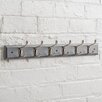 Maine Furniture Co. Heritage Wooden Wall Mounted Coat Rack with 6 Hooks