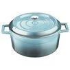 Lava Cookware Signature 10.5 Qt. Enameled Cast-Iron Round Dutch Oven
