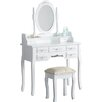 Castleton Home Sapp Dressing Table Set with Mirror